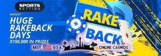 Huge Rakeback Days at SportsBetting.ag Poker Room