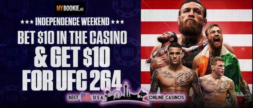 MyBookie Sportsbook UFC 264 Free Bet Promotion