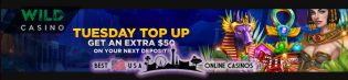 Tuesday Top Up at Wild USA Casino