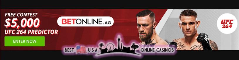 USA Online Sportsbook UFC 264 Predictor Pledging $5,000
