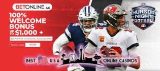 BetOnline NFL 2021 Deposit Bonus and Thursday Night Football Free Bet