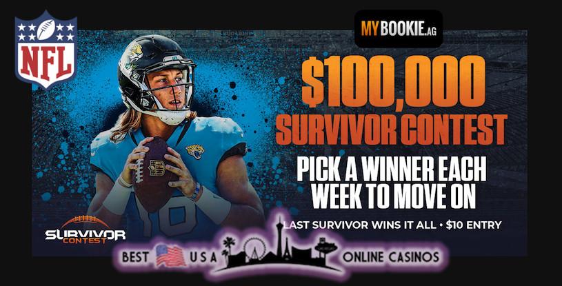 MyBookie $100,000 Guaranteed NFL 2021 Survivor Contest