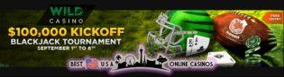 Free $100,000 Football Kickoff Blackjack Tournament at Wild Casino